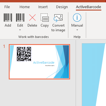 PowerPoint Barcode Add-In